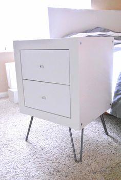 IKEA Hackers: Expedit wall shelf into nightstand