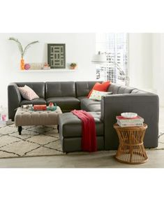 Stefana Leather Sectional Collection Only At Macy 39 S Home Decor Pinterest