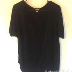 • Vneck slouch tee • Vneck slouch tee. Preloved. Round slits on sides. A bit longer in the back. Brand is banana republic. Size is XL. Fabric is super soft; made of 100% viscose. Banana Republic Tops Tees - Short Sleeve