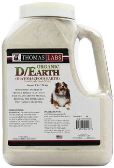 Diatomaceous Earth is a cheap and natural alternative way to control external and internal parasites in your dog, including fleas, worms, and bugs.