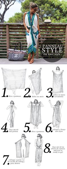 Page 2 vanda-jacintho-panel - Diy Fashion, Ideias Fashion, Fashion Outfits, Womens Fashion, Fashion Design, Bathing Suit Covers, How To Wear Scarves, Clothing Hacks, Resort Wear
