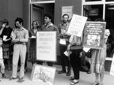 Demonstration against Barclays Bank's involvement in apartheid South Africa. Photo: AAM Archive Committee, courtesy of Have You Heard From Johannesburg (www.clarityfilms.org)