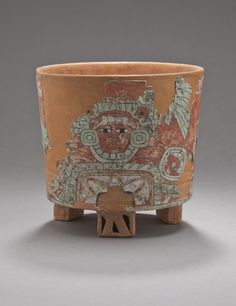 Tripod Vessel with Image of Warrior. Mexico, Teotihuacan, 450-650