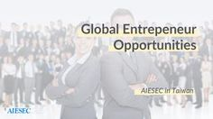 AIESEC Taiwan Global Entrpreneur Proposal