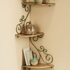 Scrolled Corner Shelf
