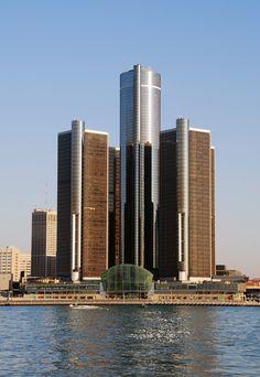 Renaissance Center, GM current headquarters, Detroit.