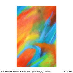 Stationery Abstract Multi-Color Art Painting