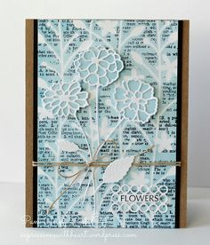 Memory Box NEW Garden Flora Stencil and NEW Zinna dies | Flickr - Photo Sharing!
