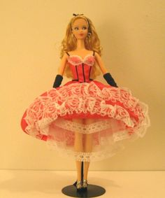 OMG! This is so frickin' cute!!! French Steffie-Faced Can-Can Barbie OOAK | eBay