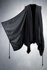 Linen Layered Shawl Long Vest.