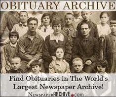 Search the Canadian Death Records Including Cemetery Records and Obituaries at MyTrees.com