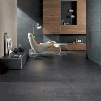 Speckled like a starry sky, Minoli Seastone Black illustrates cosmic compositions across its surface design A limestone-effect porcelain tile with a universal appeal # floortiles Modern Interior, Interior Architecture, Interior And Exterior, Interior Design, Style At Home, Partition Design, House Entrance, Stone Flooring, Home Fashion
