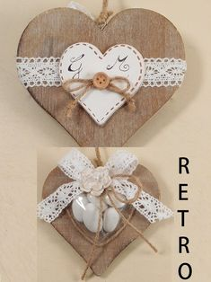 Shabby chic fai da te matrimonio 70 ideas for 2019 Wooden Hearts Crafts, Heart Crafts, Simply Shabby Chic, Shabby Chic Pink, Pink Bathroom Vintage, Decoration St Valentin, Shabby Chic Wallpaper, Quilling Designs, Heart Decorations