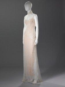 Ivory white lace qipao Barney Cheng