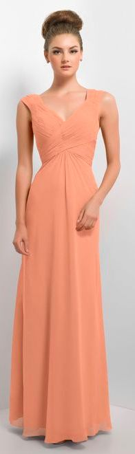 Bridesmaid dress style174L in colour option Apricot. Alexia designs available at Alison Jane Bridal - Mirfield
