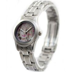New Matt Silver Band PNP Matt Silver Watchcase White Dial Bracelet Watch KW065A