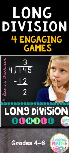 Such a fun way to practice long division! Teaching Long Division, Division Games, Math 5, 4th Grade Math, Math Games, Elementary Math, Upper Elementary, Word Problems, Teaching Resources