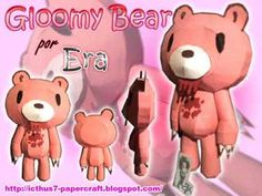 gloomy bear | Gloomy Bear Papercraft ~ Paperkraft.net - Free Papercraft, Paper Model ...