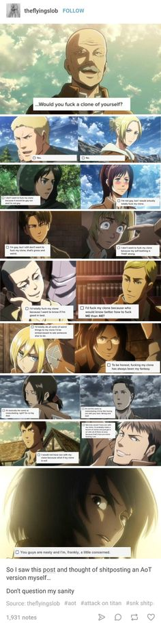 Attack On Titans. Mikasa didn't answer the question!!!!!