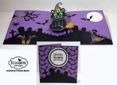 spooky halloween greetings created by frances byrne using elizabeth craft designs twist circle pop up halloween scene whiskers the cat props 9 halloween