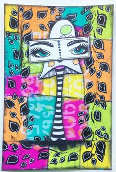 Donna Arkle for the June Dylusions Facebook Challenge.