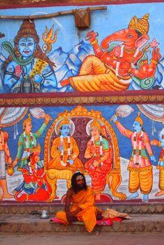 An Indian Sadhu in Varanasi , India