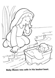 Moses Coloring Pages | Coloring Pages                                                                                                                                                     More