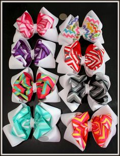 Cute hairbows huh?!! All for only $20! That's a deal! Love hair bows! If that's a quarter then those are really big.