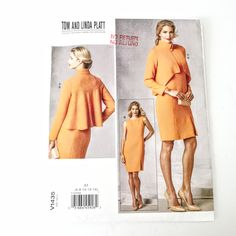 Jacket Pattern, Jacket Dress, Designer Dresses, Toms, Vogue, This Or That Questions, Etsy Shop, Sewing, Couture