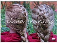 Trança com Arcos Laterais (#tranças, pramikhy, bím tóc, frisuren, коса, ...