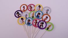 Set of 12 Disney Fairies Tinkerbell Cupcake by PartyPaperPlace, $7.00