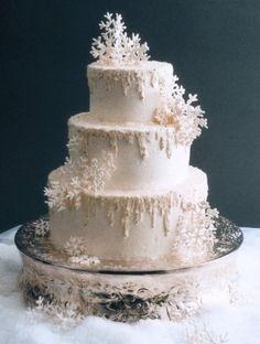 snowflake cake....sooooo pretty!!