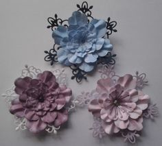 Flowers made using Hearfelt Creations Arianna Blooms Die and Stamps