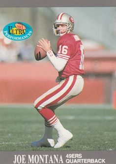 Card is in Very Good or better condition w/ no creases or stains. San Francisco Baseball, San Francisco 49ers, Sport Football, Football Cards, 49ers Players, Nfc West, Nfl Championships, Joe Montana, National Football League