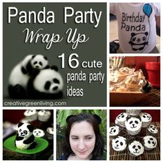 16 great panda birthday party ideas for a one year old birthday party (or really, any age!)
