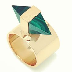 .@kellywearstler | A malachite ring from my pre-fall 13 jewelry collection.