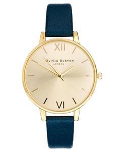 Imagen 1 de Reloj con esfera grande en azul marino de Olivia Burton