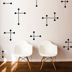 Mid-Century Stars Wall Decal, $42