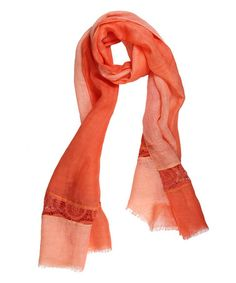 Look what I found on #zulily! Orange Fringe Scarf #zulilyfinds