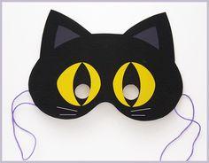 dečija maska - crna mačka (2)