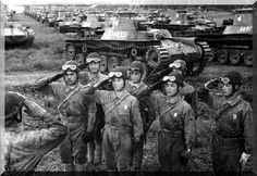 "Imperial Japanese Army Medium Tank Type 97 ""Chi-ha"" and crews."