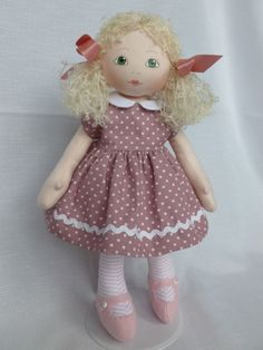 FELICITY. A 13in. rag/cloth handmade ooak doll for child over 3 yrs /collectors | eBay