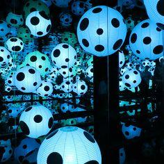 Yayoi Kusama, In Infinity exhibition, at Helsinki Art Museum.