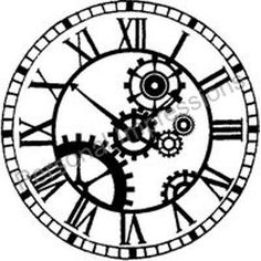So I got this idea last night to paint a huge steampunk clock on one wall of our bedroom. Not that I'm that into steampunk.I just like vintage things. Steampunk Crafts, Steampunk Clock, Steampunk Design, Gear Template, Clock Template, Templates, Gear Drawing, Clock Drawings, Images Vintage