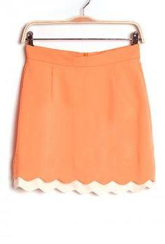 Orange and white skirt to represent the Vols!