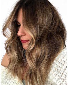 Gilded Brown Balayage Hair