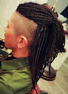 men's Mohawk with box braids