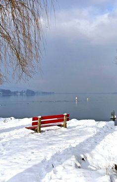 The Greifensee ..and a red bench! Switzerland | by Micha Berger - Foto