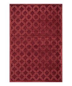 Loving this Red Textured Lattice Rug on #zulily! #zulilyfinds