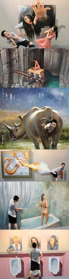 Amazing 3D painting